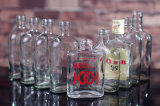 200ml / 250ml botella de whisky de cristal / botella de cristal de whisky