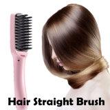 Escova cerâmica do Straightener do cabelo do ferro