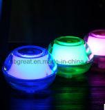 La luz de la Noche de cristal Venta caliente humidificador en diferentes colores