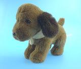 Brinquedo do cão do luxuoso de Brown escuro