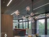 Illuminazione di vetro della lampada della sospensione del nero dell'annata del lampadario a bracci di Contempary per il progetto