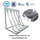 Haltbarer Schlitz galvanisierte vertikale Fahrrad-Parken-Zahnstange