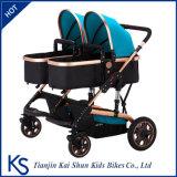 Faltbarer bunter zwei Baby-Spaziergänger für Doppelbabys
