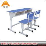 Dobule metal primario Mobiliario Escolar Estudiante escritorio y silla