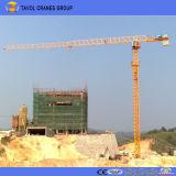 Guindaste de torre de patíbulo Qtz50-5008 do guindaste de torre 50m de China 4t