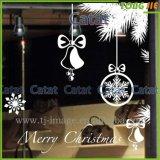 Weihnachten fertigen Glasfenster-transparenten Aufkleber kundenspezifisch an