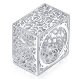 Anillo de plata hueco Shaped del color del nuevo de la manera cuadrado de la joyería