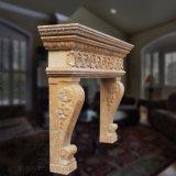 Elegante lareira de mármore natural com boa qualidade Hand-Carving T-2975