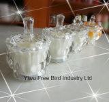 De natuurlijke Was van de Soja bemerkte de Globale Kaars van de Gift in de Kruik van het Glas