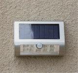 2018 indicatore luminoso solare solare di vendita caldo di obbligazione dell'indicatore luminoso 9LED del sensore per la casa