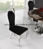 椅子を食事する特別なモデルデザインファブリックステンレス鋼の足