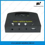 système léger à la maison solaire de panneau solaire de 4W 11V avec la fonction de chargeur de téléphone de 2 lumières