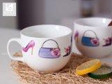 Taza de la sopa con la taza del té de la taza de la sopa de la maneta/de la porcelana con insignia de la compañía