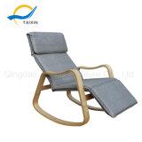Sofa-Gewebe-Schlaufen-hölzerner Schwingstuhl für die Entspannung