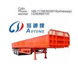 80 toneladas de carga de cerco semi remolque con el panel lateral y el ganado