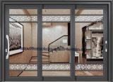 Revestido de polvo Matt Gray Puerta corredera de aluminio con parrillas de decoración