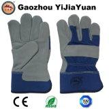 Gants de protection anti-égratignures de sécurité Cow Split Leather avec En 388