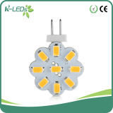 bulbos do diodo emissor de luz do Bi-Pin de 9SMD5630 DC10-30VAC8-18V G4