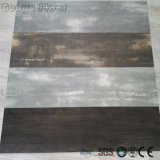 Lâche de jeter le bois de couleur noire plancher en vinyle PVC
