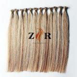 Luxo Duplo Cor Piano desenhada cabelos queratina cabelo chinês de cabelo humano