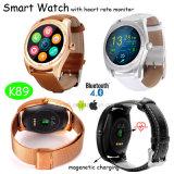 Nuevo reloj Bluetooth Smart con Monitor de ritmo cardíaco (K89)