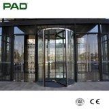 Porta giratória de cristal (três-asa)