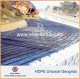 Geogrid Uniaxial de HDPE para reforço de paredes de retenção