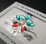 Стикер Bindi Jewellery тела красотки празднества грани кристалла драгоценностей самоцветов Mermaid самоцветов стороны акриловый (S030)