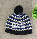 Мода акриловый ручной работы зимние шапки трикотажные Beanie Beanie Custom Red Hat