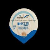 Imprime previa al corte en relieve el papel de aluminio Tapas para la leche
