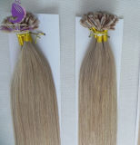 A queratina U Dica Extensão de cabelo humano puro de cabelo