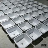 Bassins de cuisine extérieurs solides en pierre acryliques d'Undermount de double simple de cuvette