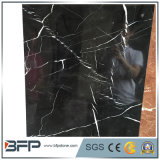 Black & White cinesi Flower Marble Tile con 10mm Thickness per Distributing