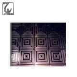 Plaque de décoration repérant la plaque d'acier inoxydable