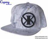Material 100% Algodón Snapack Gorra con logo bordado plano Hat