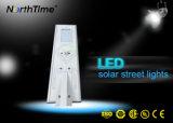 Lâmpada solar do controle ao ar livre Integrated do APP do telefone da luz de rua do diodo emissor de luz
