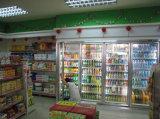 Type fendu réfrigérateur d'étalage de boisson et de nourriture de supermarché