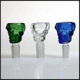 Venta caliente Mezcla de colores de 14,4 mm y 18,8 mm de tubo de agua común de cráneo de cristal ACCESORIOS FUMADOR Bowl