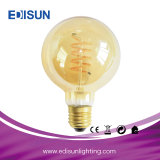Engry Saving Retro Light Clear 또는 Amber Glass Soft Filament Dimmable Lighting Bulb