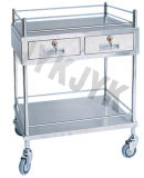 S.S. Medical Treatment Trolley con Un Drawer