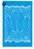 Tela elástica do laço para a roupa/vestuário/sapatas/saco/caso M048 (largura: 8cm)