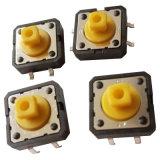 Le bouton jaune 12*12 SGS Interrupteur tactile
