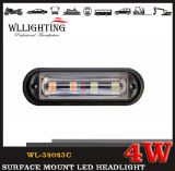 4 LED-Oberfläche eingehangenes helles Polizeiwagen-Licht