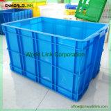 Grande contenitore mobile solido di plastica accatastabile di memoria industriale
