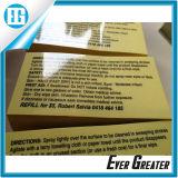 Kundenspezifischer transparenter Aufkleber-Drucken-Schwarz-freier Text-Kennsatz