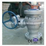 Válvula de bola con brida de acero al carbono API 2PC Fabricación