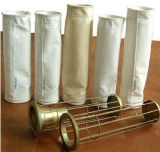 Recogida de polvo Organo de silicona galvanizado / acero inoxidable / acero al carbono del bolso de filtro de la jaula