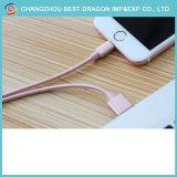 Goldenes Nylon-umsponnener multi 3.0 Typ C USB-Kabel für iPhone iPad Mini1/2/3/4