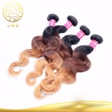 Ton-Farben-Menschenhaar 100% der Jungfrau-Haar-indisches Karosserien-Wellen-drei