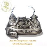 記念日およびシェールのための習慣によって浮彫りにされる堅いバッジメダルリボン